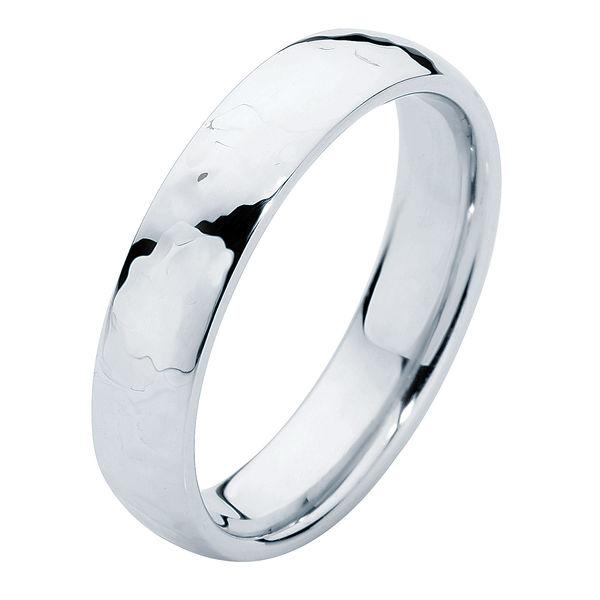 Hammertone Platinum Wedding Ring