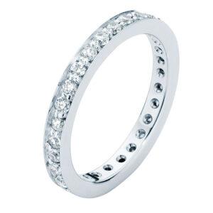 Infinity Bead Set Platinum Wedding Ring