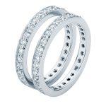 Infinity Bead Set White Gold Wedding Ring