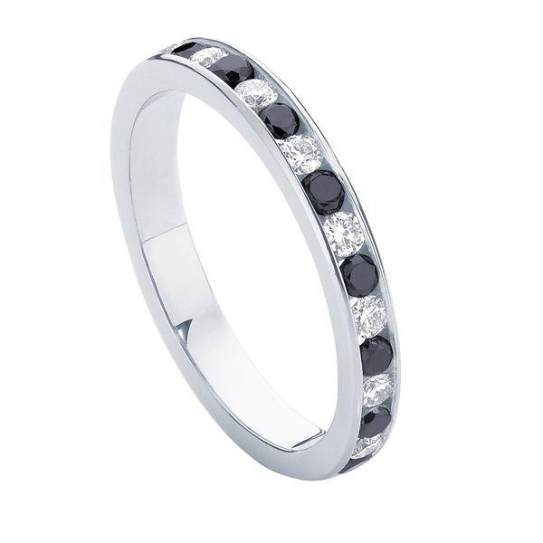 Infinity Monochrome White Gold Wedding Ring