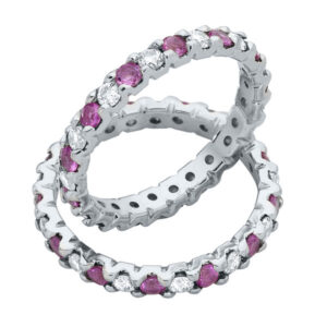 Infinity Pink and White Eternity Ring