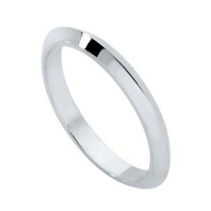 Knife Edge Platinum Wedding Ring