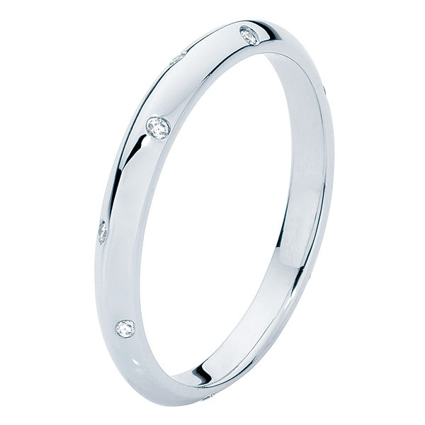 Knife Edge Platinum Wedding Ring