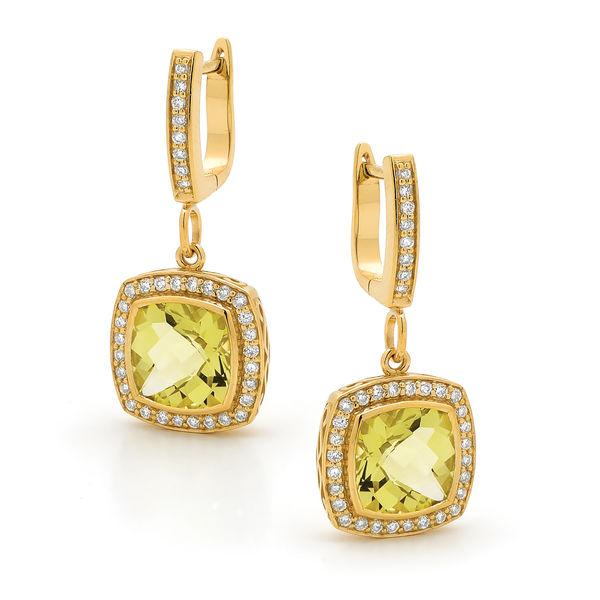 Lemon Quartz Earings