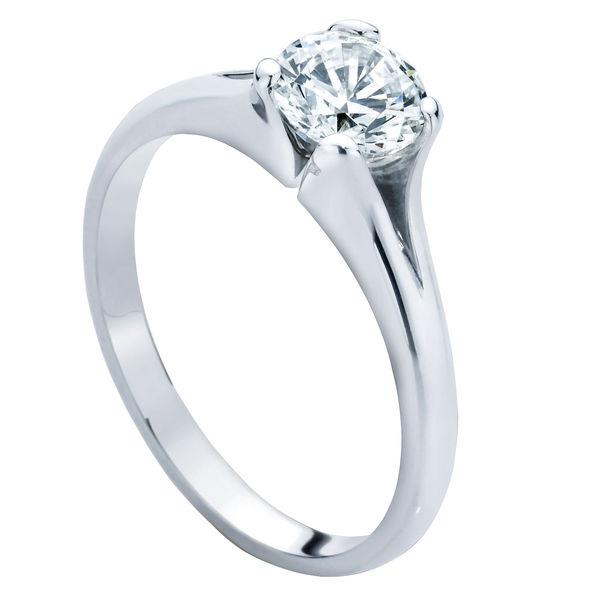 Lotus Platinum Engagement Ring