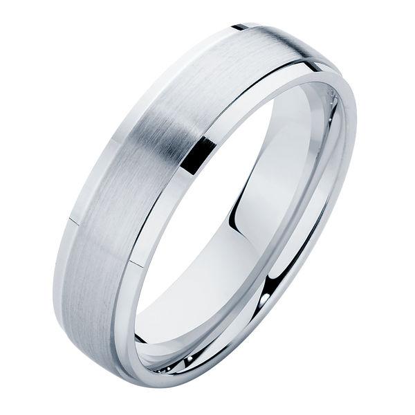 Matte Polished II Platinum Wedding Ring