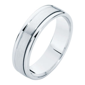 Matte Polished Platinum Wedding Ring