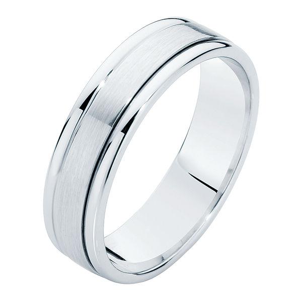 Matte Polished Platinum Wedding Ring