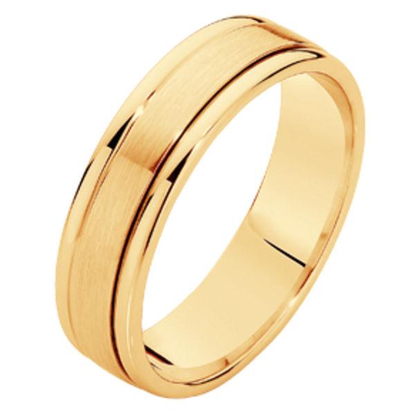 Matte Polished Yellow Gold Wedding Ring