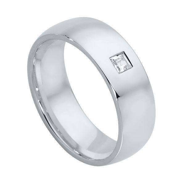 Mens Gypsy Set Platinum Wedding Ring