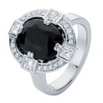 Midnight Sky Platinum Engagement Ring