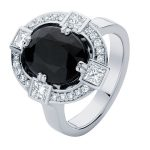 Midnight Sky White Gold Engagement Ring