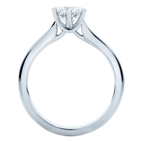 Modern Brilliant Platinum Engagement Ring