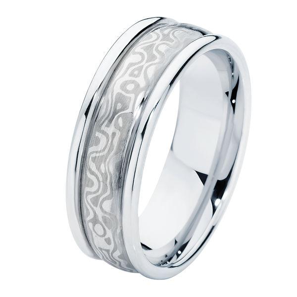 Mokume Side Bands Mokume and Other Wedding Ring