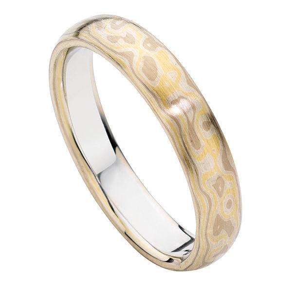 Mokume Three Colour Mokume and Other Wedding Ring