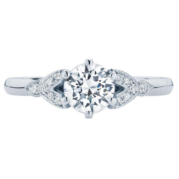 Morning Star Platinum Engagement Ring