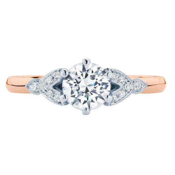 Morning Star Rose Gold Engagement Ring