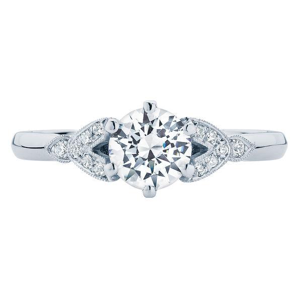 Morning Star White Gold Engagement Ring
