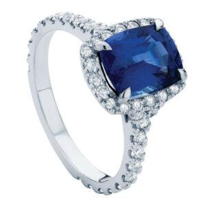 Nightsky Platinum Engagement Ring