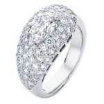 Pear Pave White Gold Engagement Ring