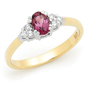 Pink Sapphire Ring Dress Ring