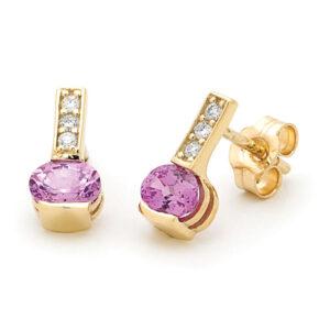 Pink Sapphire Studs Earings