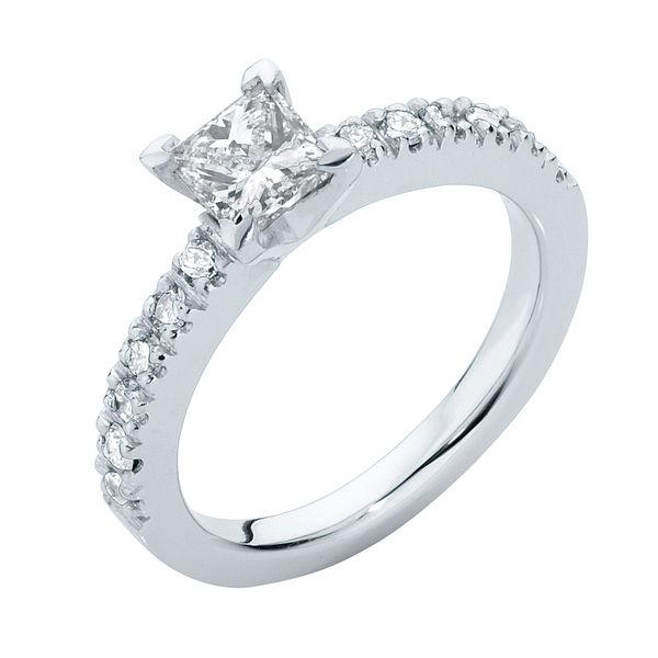 Amore Princess Platinum Engagement Ring