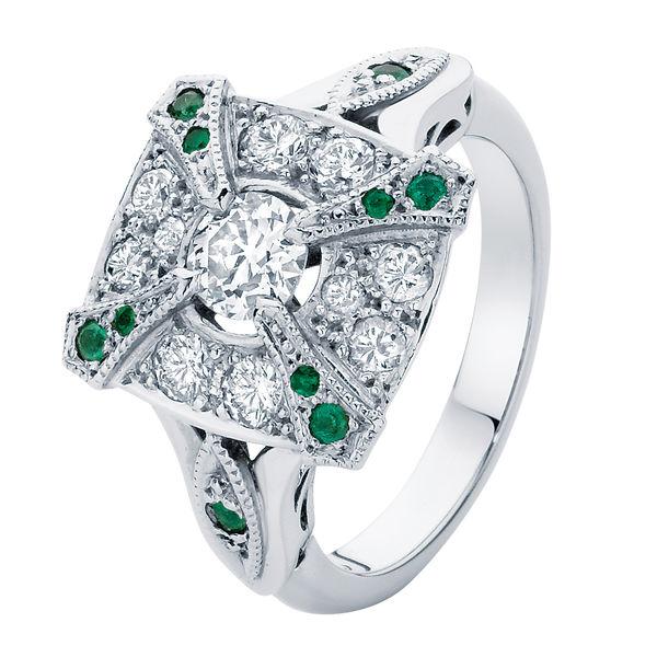 Renaissance Platinum Engagement Ring