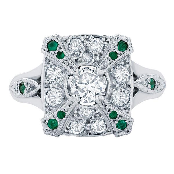 Renaissance White Gold Engagement Ring