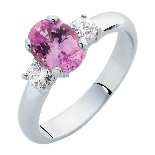 Rose Trio White Gold Engagement Ring