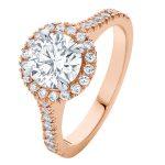 Rosetta Brilliant Rose Gold Engagement Ring