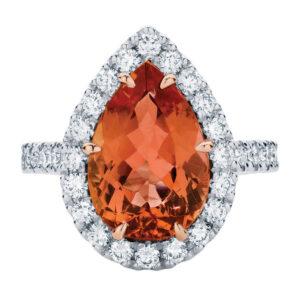 Rosetta Pear White Gold Engagement Ring