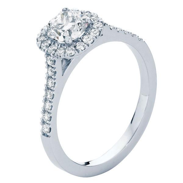 Rosetta Platinum Engagement Ring