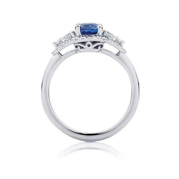 Rosetta Trio White Gold Engagement Ring