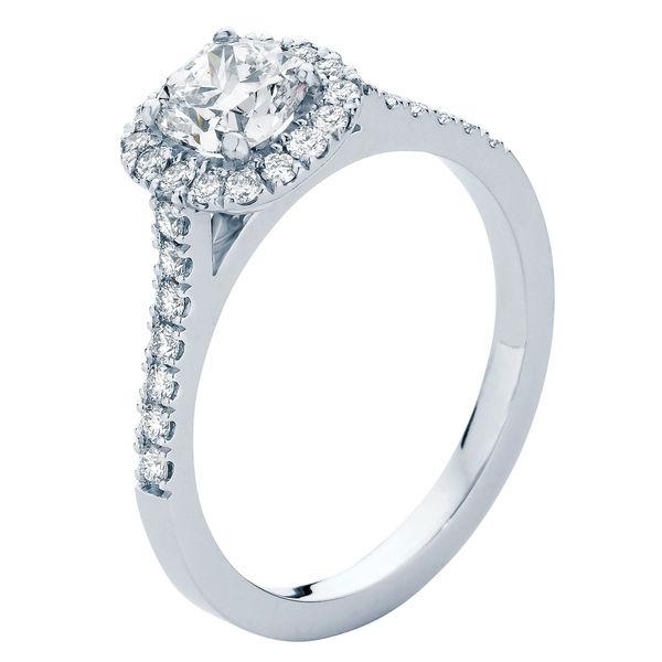 Rosetta White Gold Engagement Ring