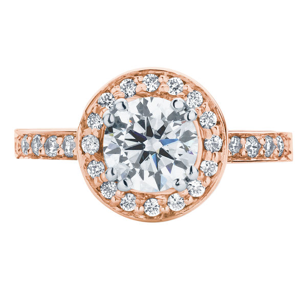 Serenity Brilliant Rose Gold Engagement Ring