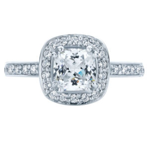 Serenity Cushion White Gold Engagement Ring