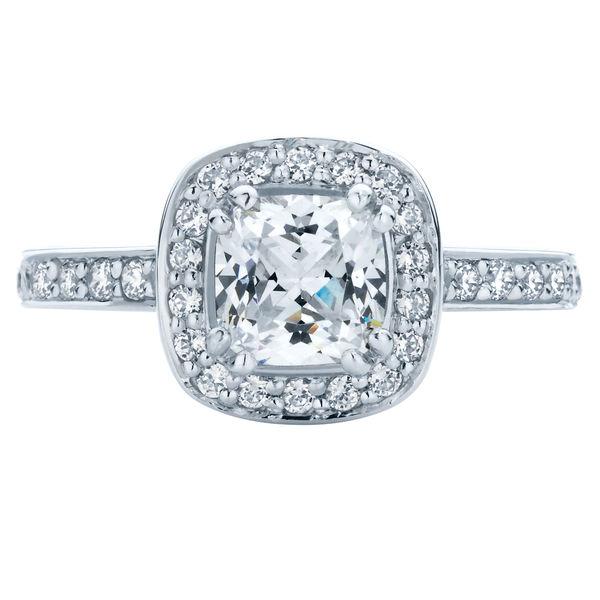 Serenity Cushion White Gold Engagement Ring