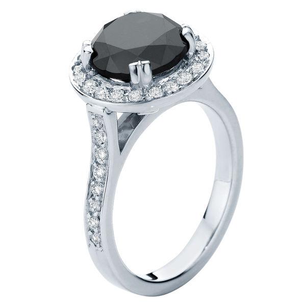 Serenity Night Platinum Engagement Ring