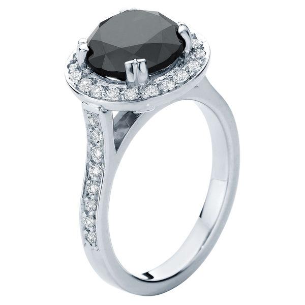 Serenity Night White Gold Engagement Ring