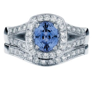 Sky Oval Platinum Engagement Ring