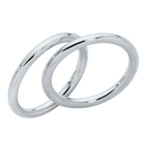 Split Bands White Gold Wedding Ring