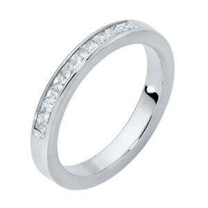 Square Channel Platinum Wedding Ring