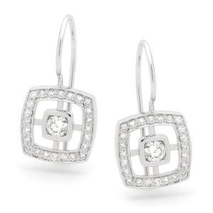 Square Diamond Drops Earings
