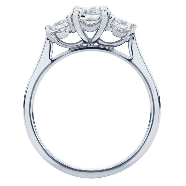 Swing Trio Platinum Engagement Ring