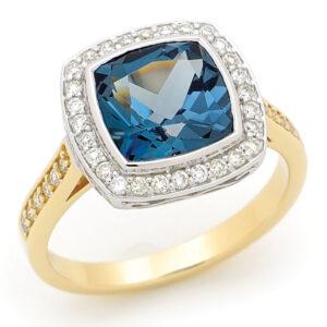 Topaz and Diamond Ring Dress Ring