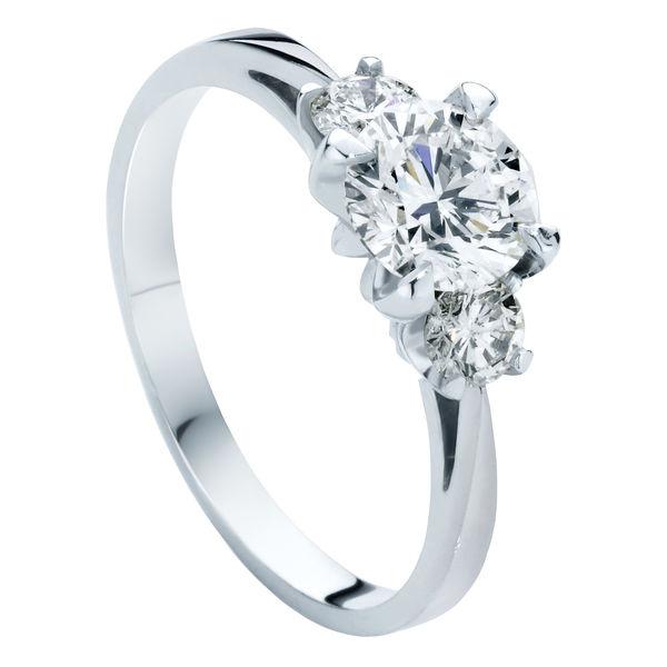 Trio Platinum Engagement Ring