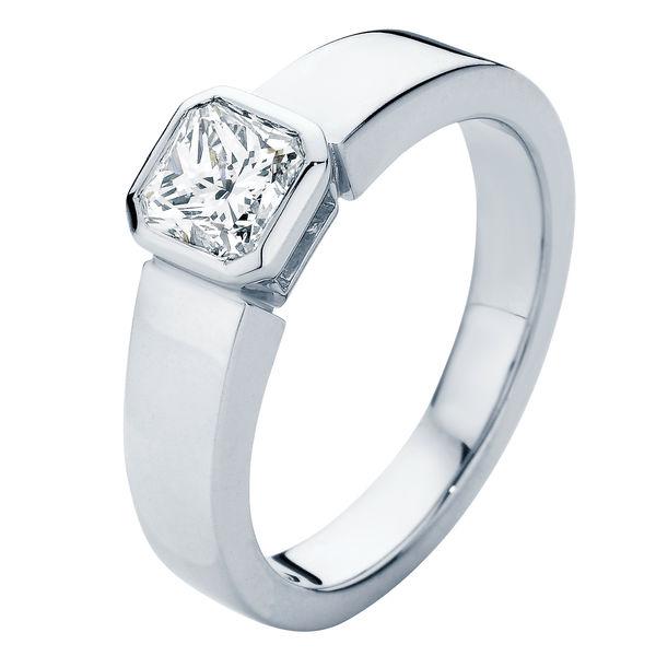 Tzarina White Gold Engagement Ring