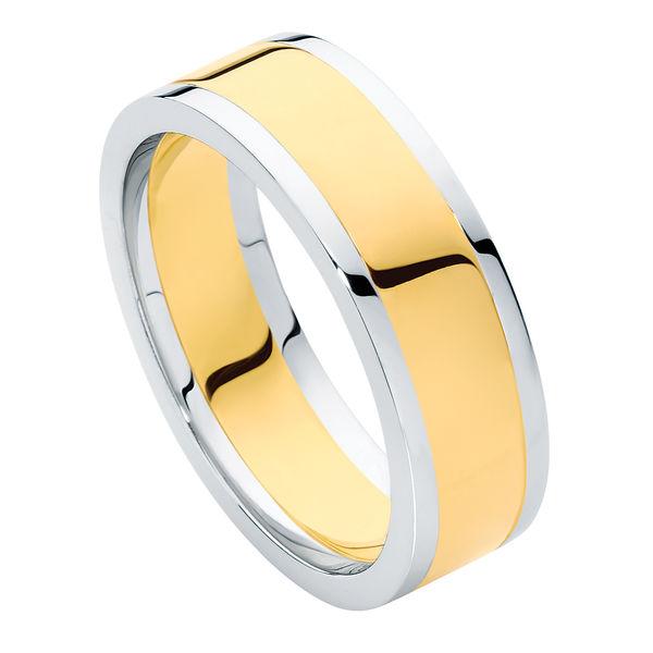 Union Flat Profile Yellow Gold Wedding Ring