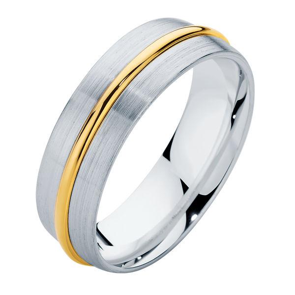 Union Raised White Gold Wedding Ring